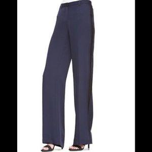 Theory Hariya Silk Tuxedo Pants